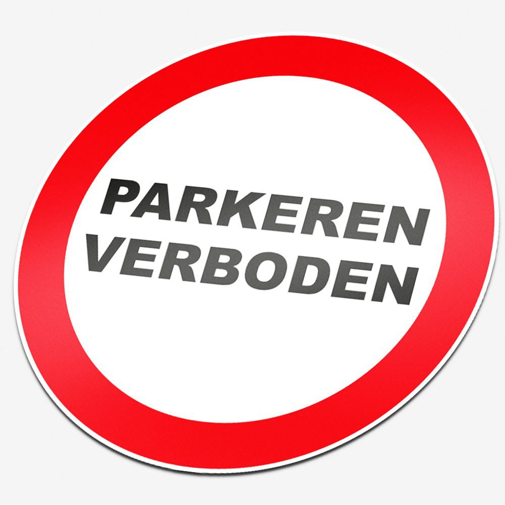 Verboden parkeren verboden