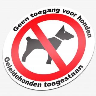 Verboden voor honden geleidehonden toegestaan