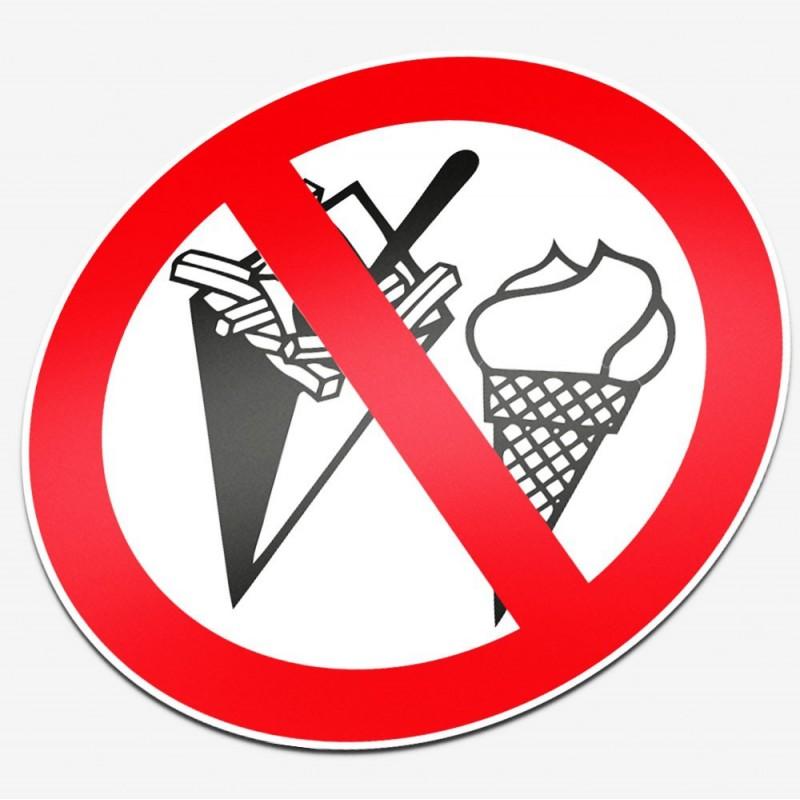 Verboden te eten en ijs