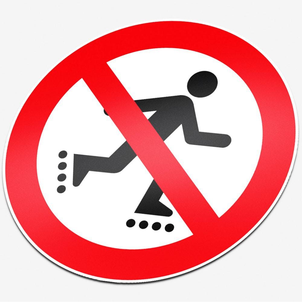 Verboden te rollerskaten