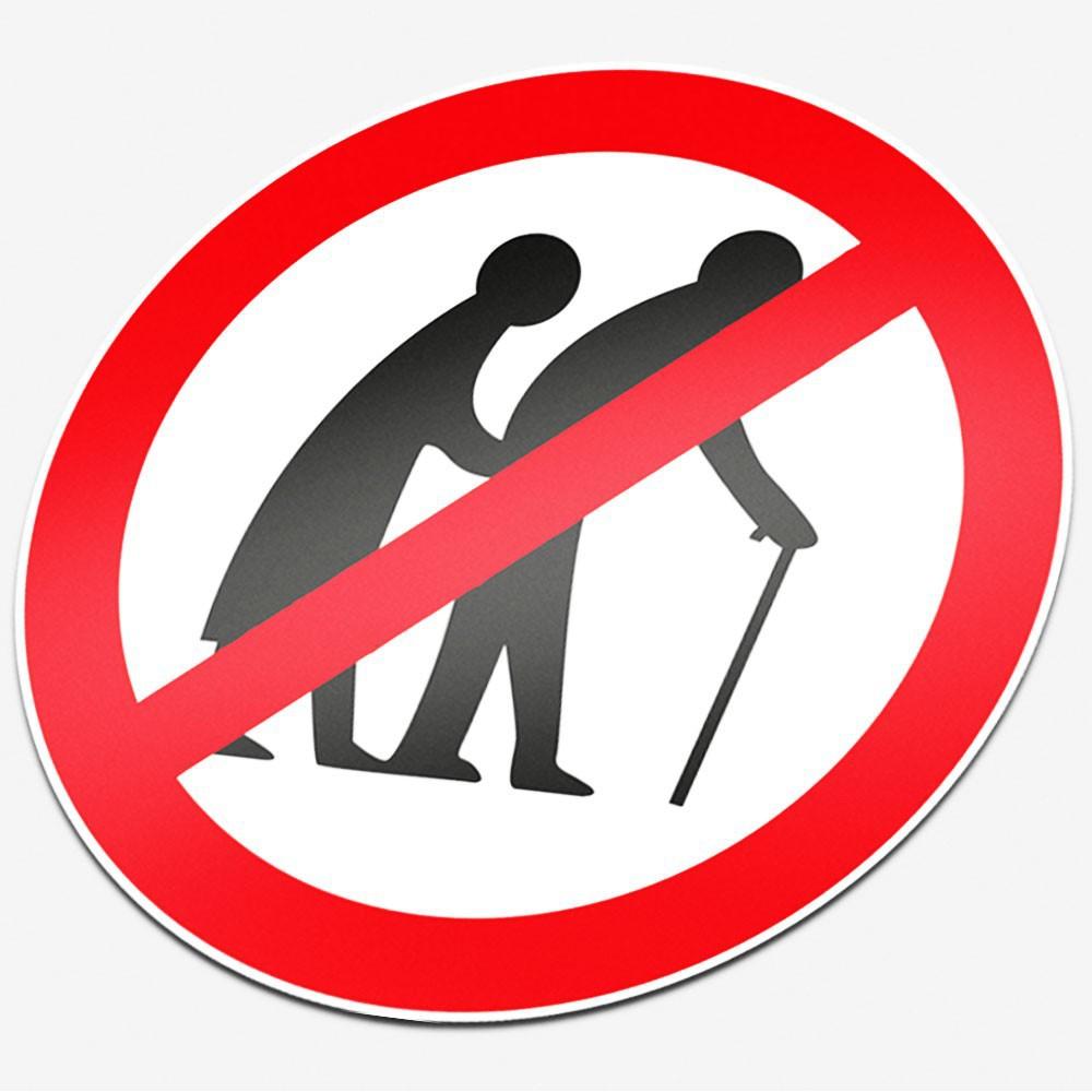 Verboden voor bejaarden
