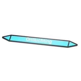 Ontluchting Pictogramsticker Leidingmarkering