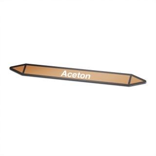 Aceton Pictogramsticker Leidingmarkering