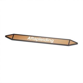 Aftapleiding Pictogramsticker Leidingmarkering