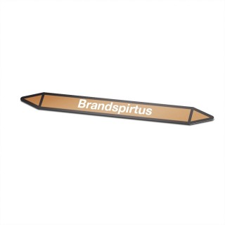 Brandspiritus Pictogramsticker Leidingmarkering