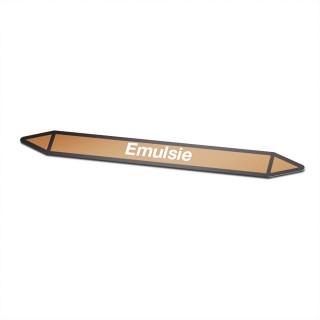 Emulsie Pictogramsticker Leidingmarkering