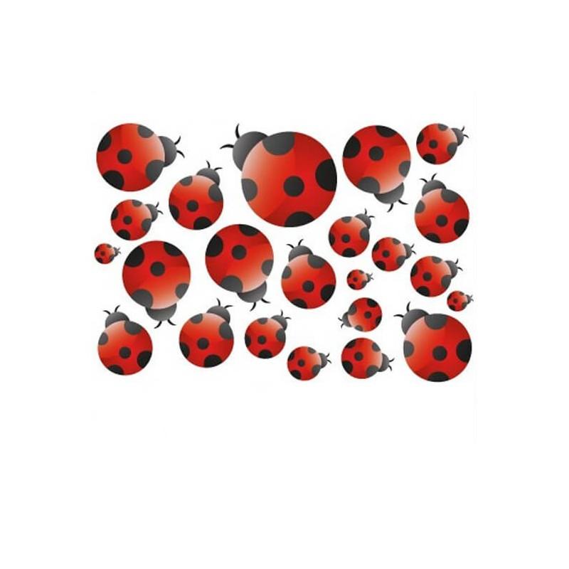 Fiets stickers A4 vol Lieveheersbeestjes