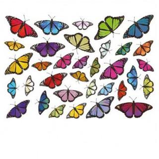 Fietsstickers Vlinders set 1