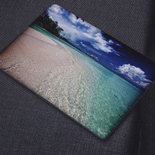 Zonnig Strand Helder Water Laptop Sticker
