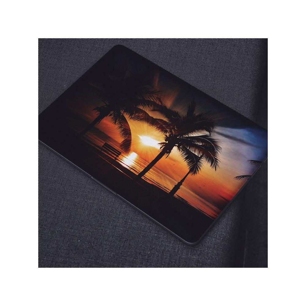 Zonsondergang Strand Palmbomen Water Laptop Sticker