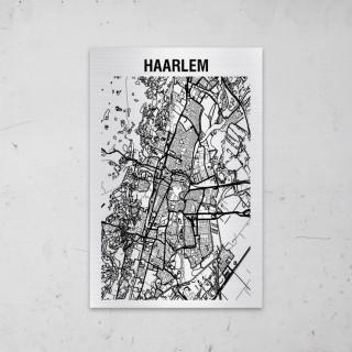 Stadskaart van Haarlem op Aluminium