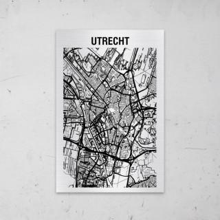 Stadskaart van Utrecht op Aluminium