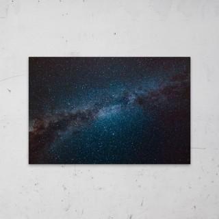 Blue Nebula Clash op Aluminium