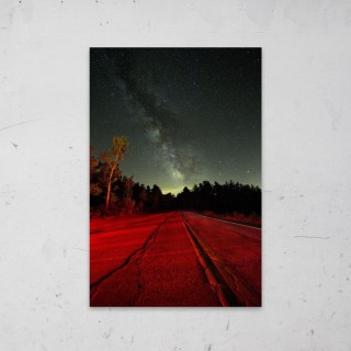 Stars And a Red Road op Aluminium