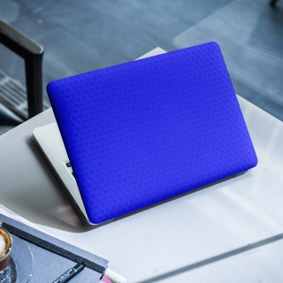 Honeycomb Blauw Laptop Sticker