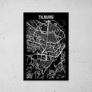 Stadskaart Inverse van Rotterdam op Aluminium