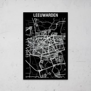 Stadskaart Inverse van Den Bosch op Aluminium