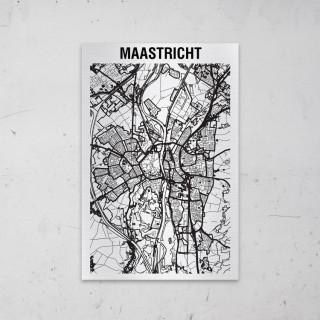 Stadskaart van Maastricht op Aluminium