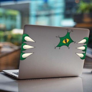 Monster Nest Laptop Stickers