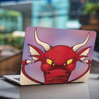 Rode Draak Laptop Sticker