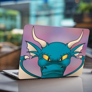 Blauwe Draak Laptop Sticker