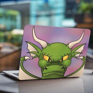 Groene Draak Laptop Sticker