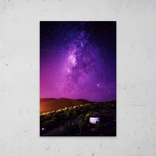 Purple Stars op Aluminium