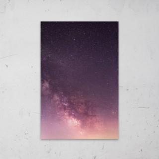 Roze Nebula op Aluminium