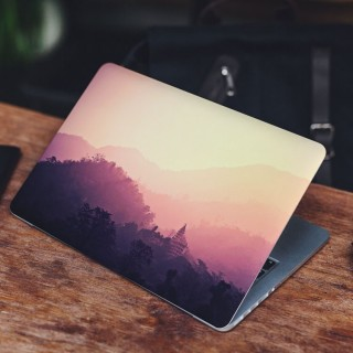 Temple at Dawn Laptop Sticker