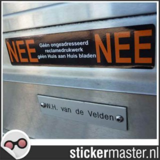 Nee Nee Sticker brievenbus 1 gratis
