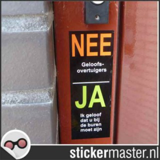 Nee Ja Stickers 2 foto sticker