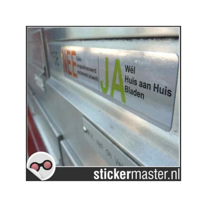 Luxe Ja Nee sticker brievenbus 2 chroom foto 2