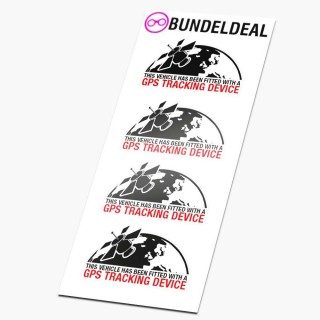 Set van 4 Planeet GPS Tracking Device stickers