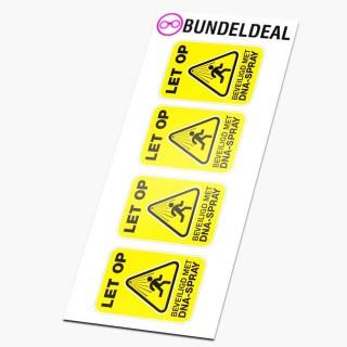 Set van 4 DNA-Spray Beveiliging geel Stickers
