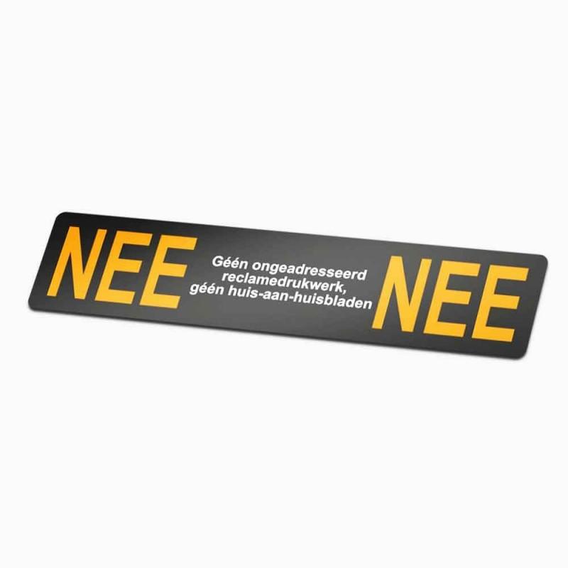 Nee Nee Sticker brievenbus 1 gratis