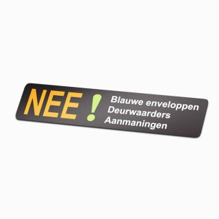 Nee Sticker brievenbus 2