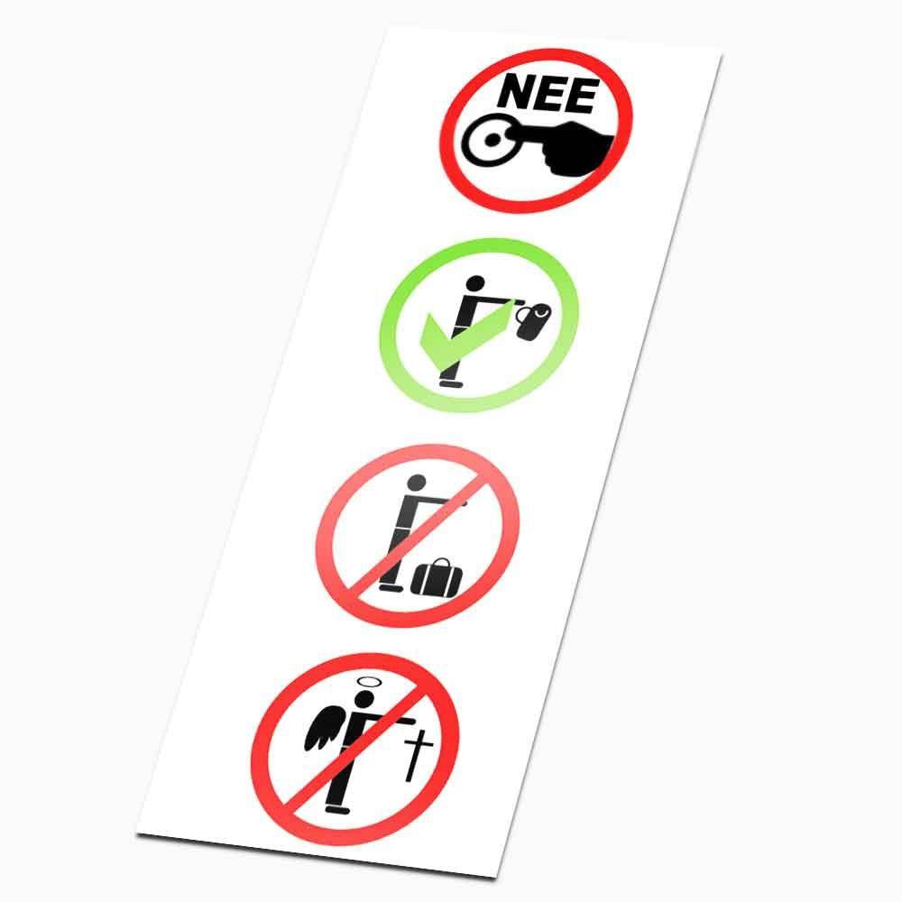 4 ronde colportage Stickers