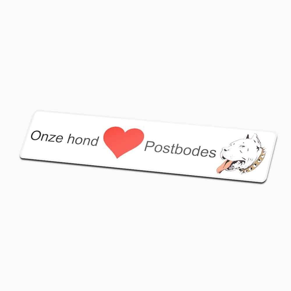 Sticker brievenbus funny pitbull