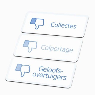 Facebook Dislike Colportage Sticker