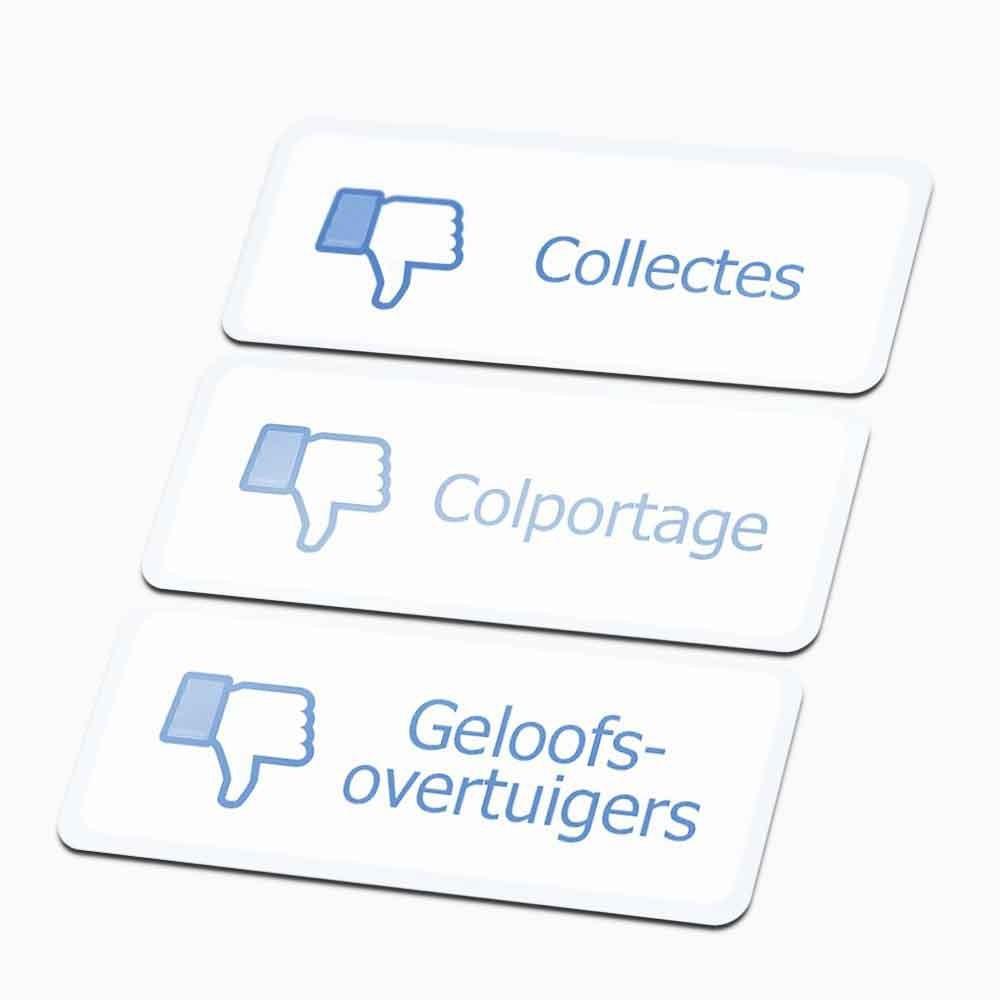 Facebook Dislike Colportage Sticker