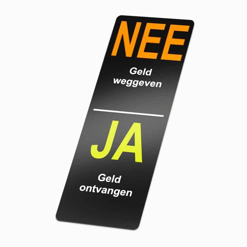 Nee Ja colportage sticker