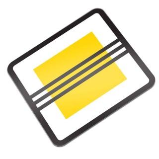 B02 Einde Voorrangsweg verkeersbord sticker