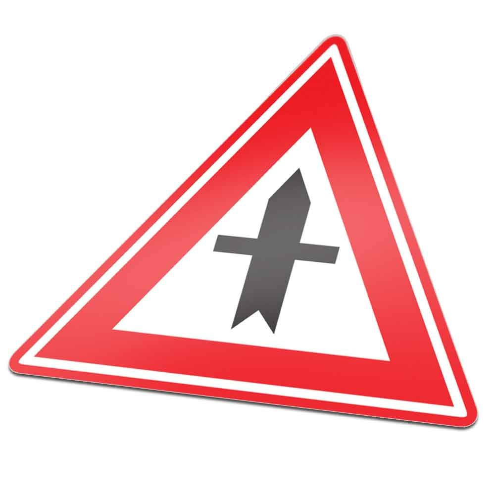 B03 Voorrangskruispunt verkeersbord sticker