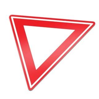 B06 Verleen voorrang aan bestuurders op kruisende weg verkeersbord sticker