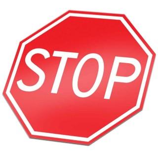 B07 Stop en verleen voorrang verkeersbord sticker
