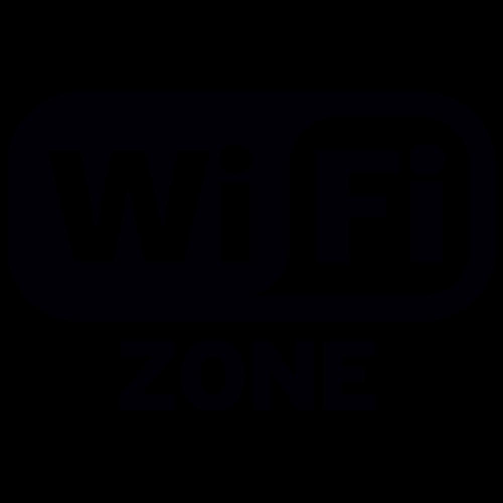 Wifi Zone sticker Logo uitgesneden