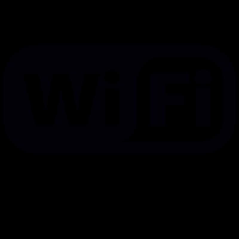Wifi Free sticker Logo uitgesneden