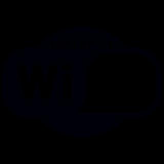 Wifi Ovaal Hotspot sticker Logo uitgesneden