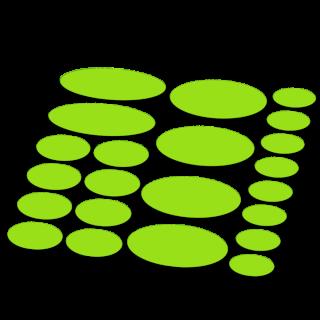 Ovaal framebescherming fluor kleur