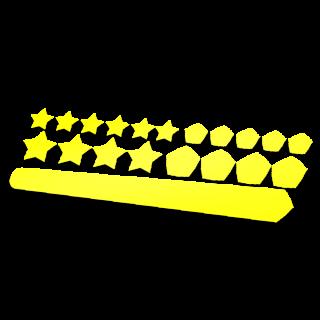 Set 20 Framebescherming glans kleur sterren